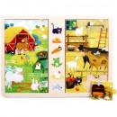 groothandel Speelgoed: TOP BRIGHT houten spel en puzzel - Op het plattela