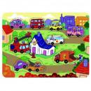 groothandel Speelgoed: Houten puzzels met punaises TOP BRIGHT - City,