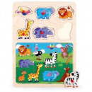 wholesale Wooden Toys: Wooden puzzles with thumbtacks 2 in 1 TOP BRIGHT -