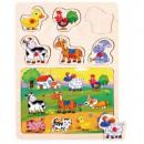 groothandel Speelgoed: Houten puzzels met punaises 2 in 1 TOP BRIGHT - La