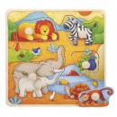 groothandel Speelgoed: Houten puzzels met punaises TOP BRIGHT - Africa 1