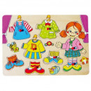 TOP BRIGHT wooden puzzle Dress-up