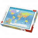 Puzzle 2000 pieces Political map of the world
