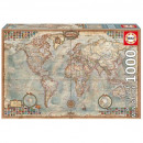 Puzzle 1000 pieces, political map of the world