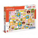 Puzzle 104 elements Super Color Emoji
