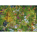 Puzzle 2000 pieces. Deep jungle