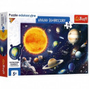 Puzzle of 70 pieces of the Solar System