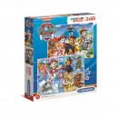 Puzzle 2x60 pieces Super Color Paw Patrol