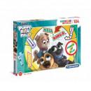 Puzzle 104 pieces Super Color Puppy Dog Pals