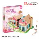 Großhandel Spielwaren: 3D Puzzle Dollhouse 84 Elemente