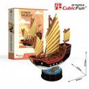 Großhandel Spielwaren: 3D Puzzle Segelboot Chinesisch 62 Stück