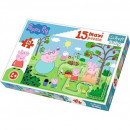 Puzzle Peppa Puzzle Baby 15 pieces Maxi - Peppa