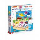 Puzzle 2x20 pieces Super color Baby Shark