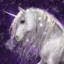 Unicorn Purple Pillow cover