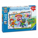Puzzle 2x12 pieces - Paw Patrol