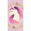 Photoprints Sweet home Unicorn Flowers beach towel