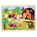 Wooden puzzle TOP BRIGHT - Farm, 20 elements