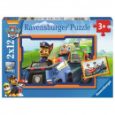 Puzzle 2x12 pieces - Paw Patrol, In action