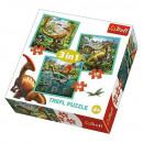 Großhandel Spielwaren: Puzzle 3in1 - Die erstaunliche Welt der Dinosaurie