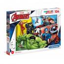 Rompecabezas Avengers Puzzle 104 piezas El Avenger