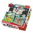 Puzzle DisneyMickey Puzzle 3in1 Mickey Mouse - Wit