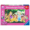 Puzzle DisneyPrincess Puzzle 2x24 Elemente Freundl