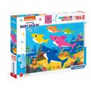 Puzzle 104 Elemente Maxi Superkolor Baby Shark