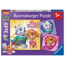 wholesale Toys: Puzzle 3 x 49 pieces, Paw Patrol