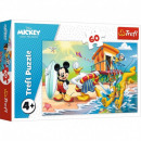 Puzzle DisneyMickey Puzzle of 60 pieces Curious d