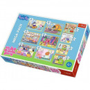 Puzzle Peppa Puzzle 10in1 Peppa Pig - with friends