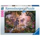 Puzzle Wolf Puzzle 1000 elements Wolf family la