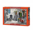 Puzzle 500 pieces A charming alley with red