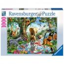 Puzzle 1000 pieces Adventure in the jungle