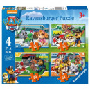 Puzzle 4in1 Paw Patrol Team