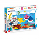 Puzzle of 60 pieces of Baby Shark