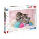 Puzzle Cat Puzzle 104 pieces Super Color - Sweet