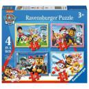Puzzle 4in1 Das Paw Patrol Team