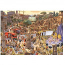 Puzzle 2000 pieces Fashion show among the ruins of