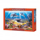 Puzzle 500 Pieces Dolphins