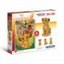 Puzzle 104 elements + 3D Lion King MODEL