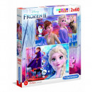 Puzzle Disneyfrozen Puzzle 2x60 pieces Super K