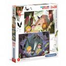 Puzzle 2 x 20 piezas Super Color En búsqueda