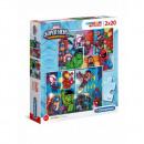 Puzzle 2 x 20 piezas Super Color Marvel Superbo