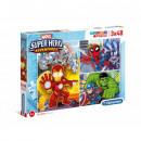 Puzzle 3x48 elementos Super Color Superhero