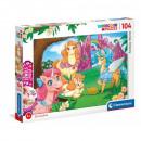 Puzzle 104 elementos - Mundo Fantástico