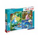 Puzzle 3x48 piezas - Disney Clásico