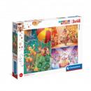 Puzzle 3x48 pieces - Circus