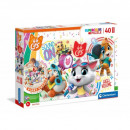 Puzzle Cat Floor puzzle 40 elements - 44 Cats