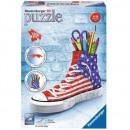 nagyker Sport és szabadidő: Puzzle 108 darab 3D amerikai cipő