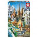 Puzzle 1000 pieces, Collage